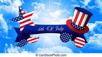 d468f6deb2e1c8 Independence Day Concept 3D illustration · Happy 4th of July. Glasses and  Mustache Design of the American Flag With Hat of