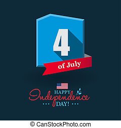 Happy 4th of July - Independence Day card or background. American flag.