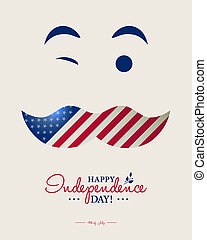 Happy 4th of July - Independence Day card or background.