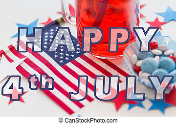 ece27c387bde97 Independence Day. Happy 4th of July Concept. American Flag Perspective 3D  illustration