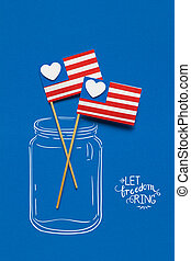 Happy 4th of July. - Creative 4th of July concept photo of...