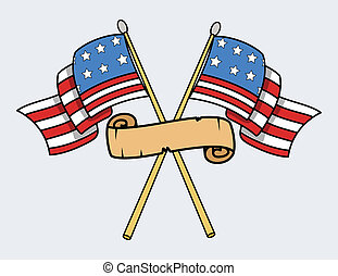 Happy 4th of July - USA Flags