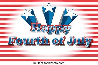 Happy 4th of July, vector