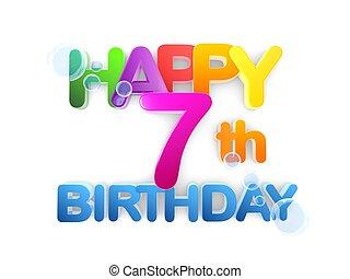 Happy 7th Birthday Title, light