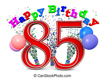 85th Birthday Party Clip Art And Stock Illustrations 139