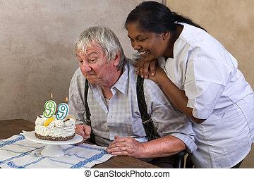 Happy 99 birthday cake