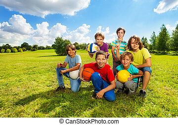Happy active kids