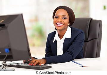 happy african american businesswoman
