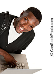 Happy African American College Student