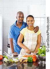 african american couple portrait
