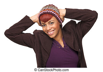 Happy African American Girl