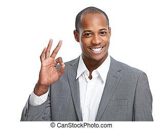 Happy African-American man.