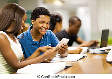 college students using tablet computer