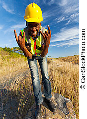 happy african construction worker