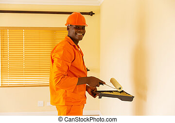 african contractor painting