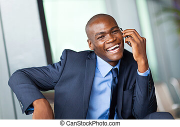 happy african corporate worker