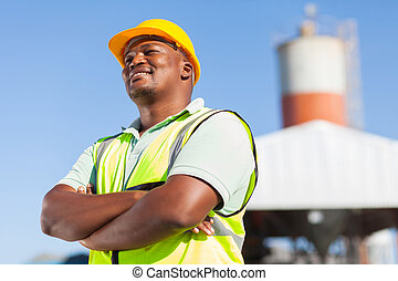 african male constructor - happy african male constructor...