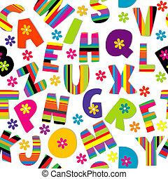 Happy alphabet seamless - Seamless wirh letters of alphabet...
