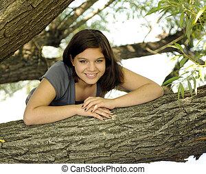 Happy among the Trees