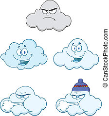 Happy And Angry Clouds Collection - Happy And Angry Clouds...