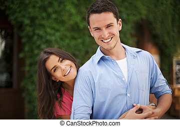 Happy and beautiful young couple