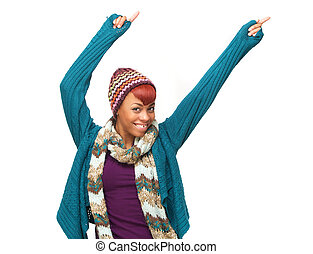 Happy and Fun African American Woman