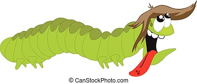 Happy and hungry caterpillar