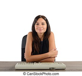 Happy and satisfied businesswoman - Businesswoman happy and...