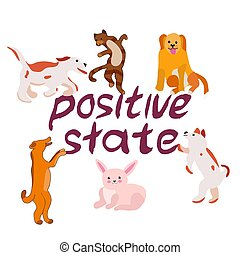 Happy animal cartoon collection.