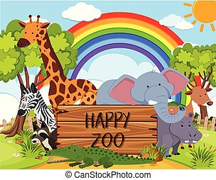 Happy Animal in the Zoo