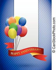 happy anniversary balloons cards