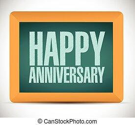 happy anniversary board sign
