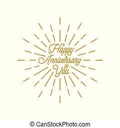 happy anniversary burst vector icon
