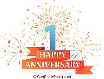 Happy anniversary celebration