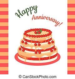 Happy Anniversary Cherry Pie Multi Level