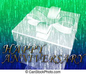 Happy anniversary festive special occasion celebration...