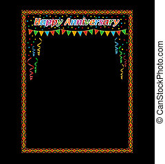 Happy anniversary frame