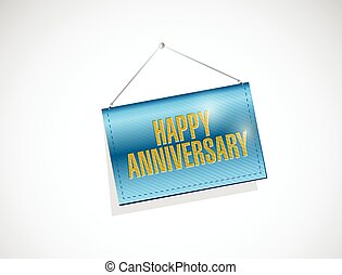 happy anniversary hanging banner