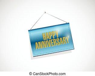 happy anniversary hanging banner