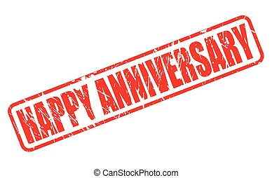 Happy anniversary red stamp text