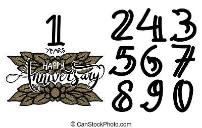 Happy Anniversary Template Vector