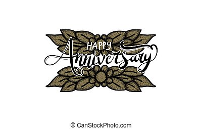 Happy Anniversary Template Vector