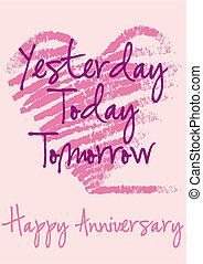 happy anniversary, vector card - anniversary greeting card...