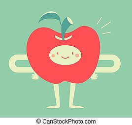 Happy Apple Smiling
