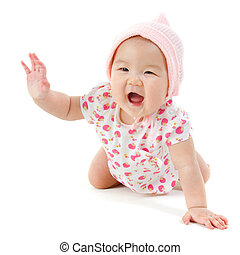 Happy Asian baby girl - Six months old Asian baby girl...