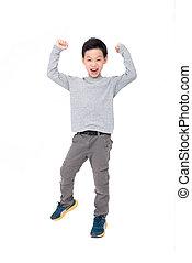 boy isolated over white background