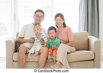 Happy Asian family portrait