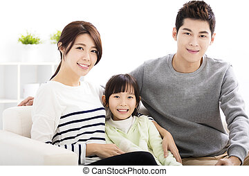 Happy Attractive Young Family Portrait