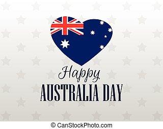Happy Australia day 26 january. Heart with the flag of Australia. Vector illustration.