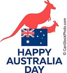 Happy Australia day. 26 january. Vector illustration. -...